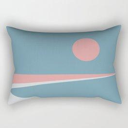 Sunset at Newton Rectangular Pillow