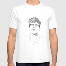 James Dean Mens Fitted Tee White MEDIUM