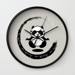 Yoga Panda Wall Clock