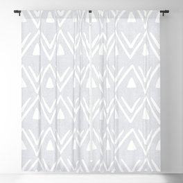 Etched Zig Zag Pattern in Gray Blackout Curtain