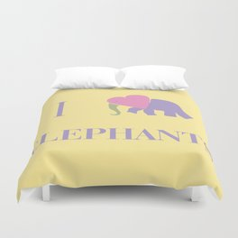 I Heart Elephants Duvet Cover