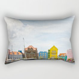 Colorful houses Willemstad Rectangular Pillow