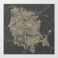 las vegas Canvas Prints featuring Las Vegas by Map Map Maps
