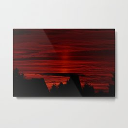 Shadows in the Red Sky Metal Print