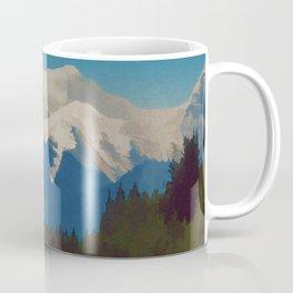 Rocky Mountains Canada Vintage Travel Poster Coffee Mug