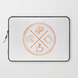 Four Elements of Cappuccino Pictogram Laptop Sleeve