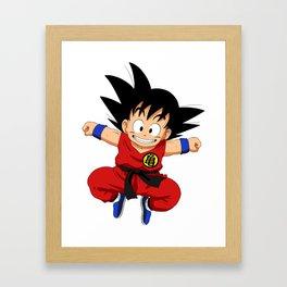 Kid Goku Framed Art Print