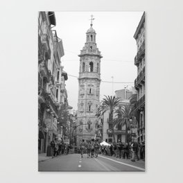 Black White Architecture in Valencia Canvas Print