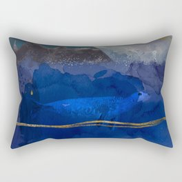 Seal Under a Melting Glacier Rectangular Pillow