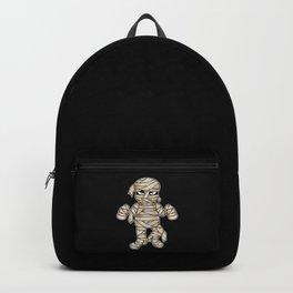 Scary Halloween Mummy Cartoon Illustration Backpack