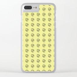 Jeff Goldblum Pattern Gold Clear iPhone Case