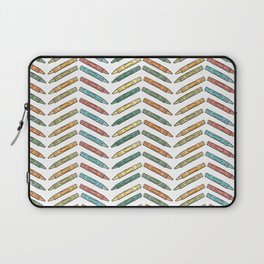 Colorful Crayons Back To School Print Laptop Sleeve