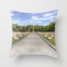 Russian War Graves Budapest Throw Pillow