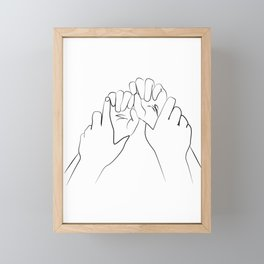 main dominante- Dominant hands print ,Holding Hands Framed Mini Art Print