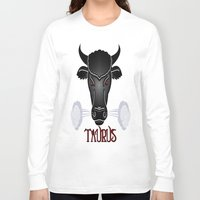 taurus Long Sleeve T-shirts featuring Taurus by LBH Dezines