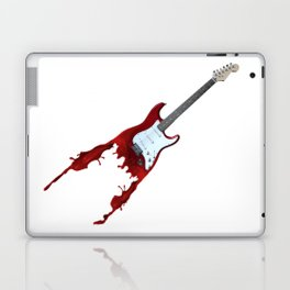 Electric guitar red music rock n roll sound beat band gift idea Laptop & iPad Skin