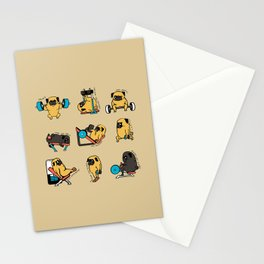 Pug Leg Day Stationery Cards