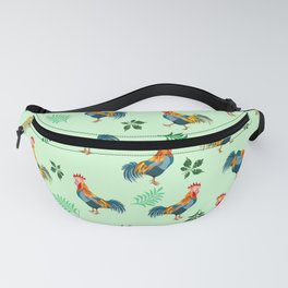 Rooster Pattern Fanny Pack