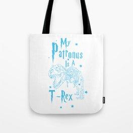 T Rex Patronus Tote Bag