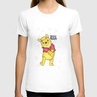 pooh T-shirts featuring Winnie the Pooh by Lozza.