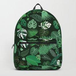 leaf toss (dark) Backpack