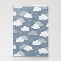 rain Stationery Cards featuring RAIN CLOUDS by Daisy Beatrice