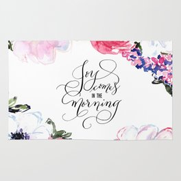 Joy - Psalm 30:5 Rug