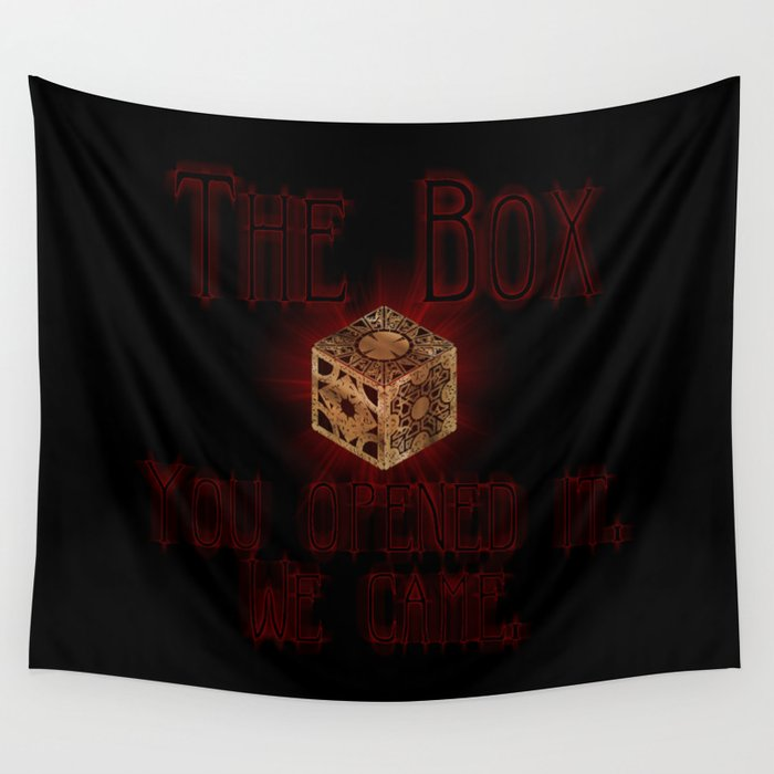 Hellraiser The Box You Opened It Wall Tapestry