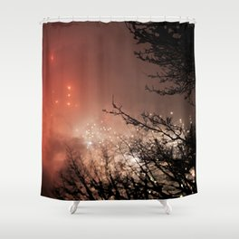 Glowing sky Shower Curtain