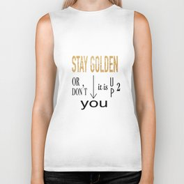 Stay Golden Biker Tank