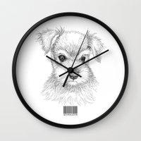 schnauzer Wall Clocks featuring Schnauzer by Det Tidkun