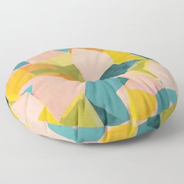Fun Beautiful Cloodiscope Paper Cut Out Patterns Fun Summer Tropical Style Floor Pillow