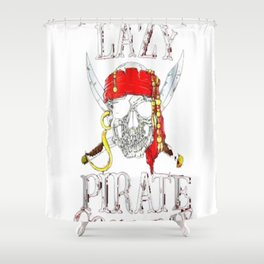 This is my Lazy Pirate Costume T shirt Funny Halloween Tees Tshirt Shower Curtain