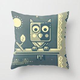Night owl graphic design Throw Pillow