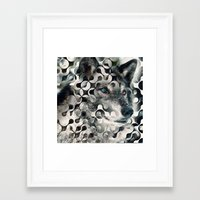 into the wild Framed Art Prints featuring wild by Vin Zzep