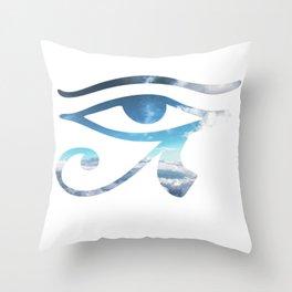 Eye of Horus Sky Background Throw Pillow