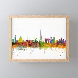 Paris France Skyline Framed Mini Art Print