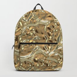 Gold Luxury Leaves Backpack