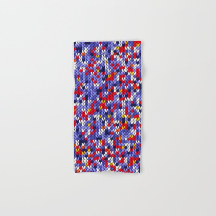 Knitted multicolor pattern 2 Hand & Bath Towel
