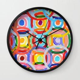 Ornamental Polka Daubs Wall Clock