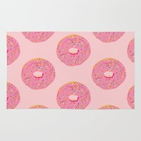 doughnut Area & Throw Rugs featuring Doughnut by Inbeeswax