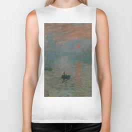 Impression, Sunrise, Claude Monet Biker Tank