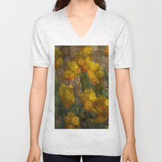 Tulips background Unisex V-Neck