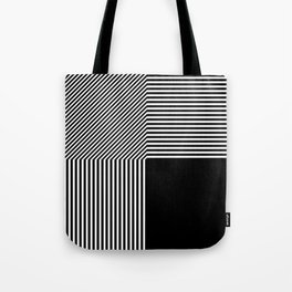 Geometric abstraction, black and white Tote Bag