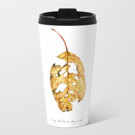 Every leaf has a story to tell Metal Travel Mug