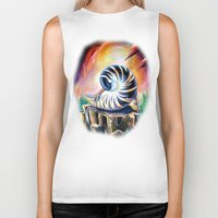 shell Biker Tanks featuring Shell by Naushad Arts