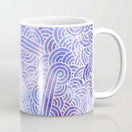 Lavender and white swirls doodles Coffee Mug