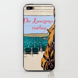 Lonesome cowboy iPhone Skin