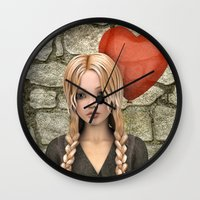 valentines Wall Clocks featuring Valentines Day by Design Windmill
