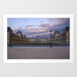 Louvre at Dusk Art Print